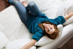 Woman relaxing Royalty Free Stock Photo