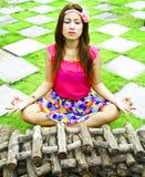 ฺWoman relaxing Royalty Free Stock Photography