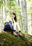 Woman  relaxing  Royalty Free Stock Photos