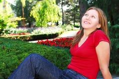 Woman relaxing Stock Photos