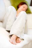 Woman relaxing Royalty Free Stock Photography