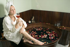 Woman Relaxing At A Spa - Horizontal Stock Images