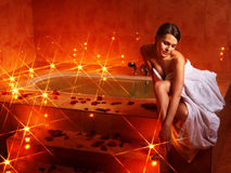 Woman relaxing in bath. Stock Photography