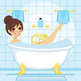 Woman Relaxing Bath Stock Photography