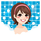 Woman Relaxing Bath Royalty Free Stock Photo