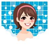 Woman Relaxing Bath Royalty Free Stock Photo