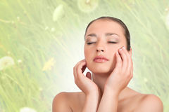 Woman relaxing Stock Image