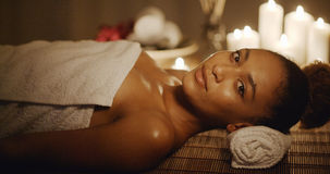 Woman Relaxing At Beauty Spa Royalty Free Stock Photography