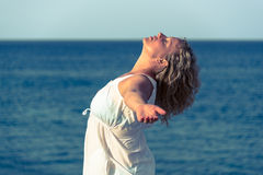 Woman relaxing with closed eyes Royalty Free Stock Images