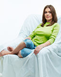 Woman relaxing on the couch Stock Image
