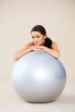 Woman relaxing after exercises Royalty Free Stock Image
