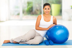 Woman relaxing exercising Royalty Free Stock Photo