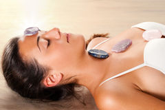 Woman relaxing at gemotherapy session. Stock Photography