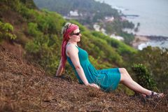 Woman relaxing in Goa Royalty Free Stock Image