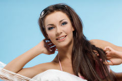 Woman relaxing in a hammock Royalty Free Stock Photo