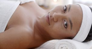 Woman Relaxing Health Spa stock video