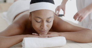 Woman Relaxing At A Health Spa Royalty Free Stock Photography