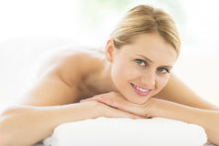 Woman Relaxing In Health Spa Royalty Free Stock Photos