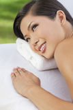 Woman Relaxing At Health Spa Having Massage Royalty Free Stock Images