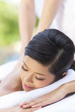 Woman Relaxing At Health Spa Having Massage Royalty Free Stock Photos