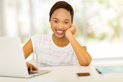 Woman relaxing at home. Beautiful young african american woman relaxing at home Stock Images