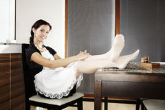 Woman relaxing at home Royalty Free Stock Image