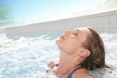 Free Woman Relaxing In Hot Tub After A Long Working Day Royalty Free Stock Image - 60758176