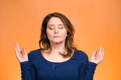 Woman relaxing, meditating, in zen mode Stock Photography