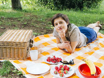 Woman relaxing Stock Images