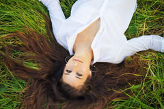 Woman Relaxing Outdoors Stock Images