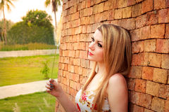 Woman Relaxing In The Park Royalty Free Stock Image