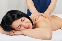 Woman relaxing in spa Royalty Free Stock Image