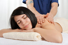 Woman relaxing in spa Stock Photos
