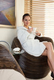 Woman relaxing in spa Royalty Free Stock Photography