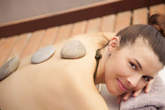 Woman relaxing in spa Stock Image