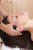 Woman relaxing in spa massage Royalty Free Stock Photo