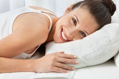 Woman Relaxing At Spa Royalty Free Stock Image