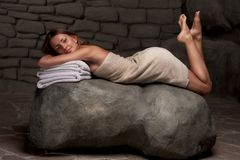 Woman relaxing in spa resort Stock Photography