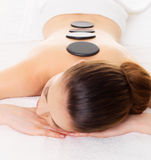 Woman relaxing in spa salon Royalty Free Stock Photos