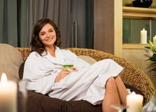 Woman relaxing  in spa salon Stock Photography