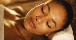 Woman Relaxing In A Spa Situation Stock Image