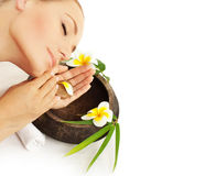 Woman relaxing in spa Stock Photography