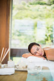 Woman relaxing during spa treatment Royalty Free Stock Photography