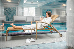 Woman relaxing in the spa Royalty Free Stock Photo
