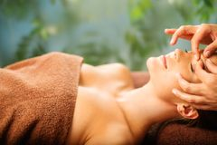 Woman relaxing in a spa Stock Photography