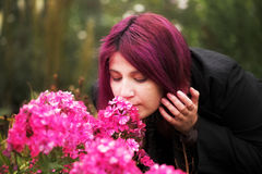Woman relaxing in the summer park Royalty Free Stock Photo