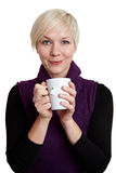 Woman relaxing with tea Royalty Free Stock Photo