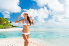 Woman Relaxing Tropical Island Royalty Free Stock Photography
