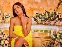 Woman relaxing at water spa. Stock Photography