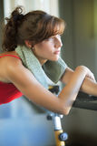 Woman relaxing after workout Stock Images
